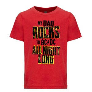 Dad Rocks All Night Long Youth Tee