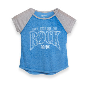 AC/DC Blue/Grey Let There Be Rock Women's Tee