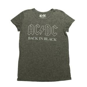 Back In Black White Outline T-Shirt