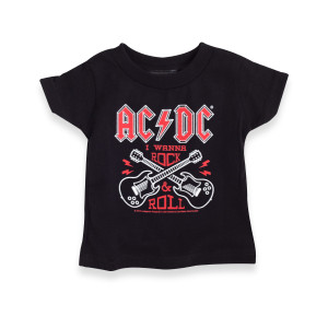 Toddlers I Wanna Rock And Roll T-Shirt