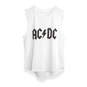 AC/DC Logo Tank Top - White