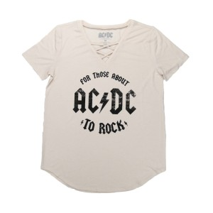 Womens For Those About To Rock Deep V T-Shirt
