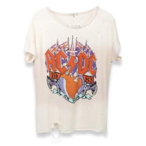 AC/DC Flags Globe Tour White T-Shirt