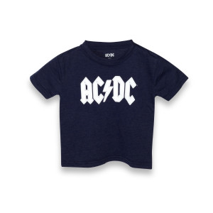 AC/DC White Logo Blue Kids T-Shirt