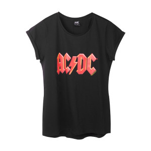 AC/DC Women's Red Lightning Logo T-Shirt