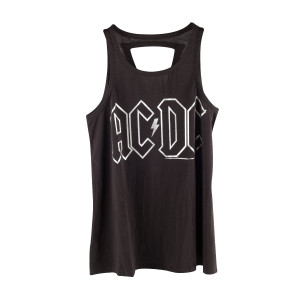 AC/DC Silver Logo with Lightning Bolt Tank Top