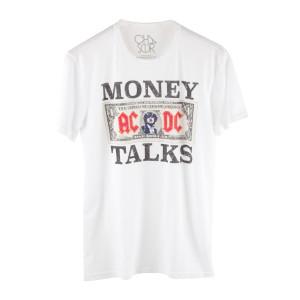 AC/DC Money Talks Dollar Bill with Angus Mens T-Shirt