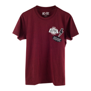 AC/DC Maroon Patch T-Shirt