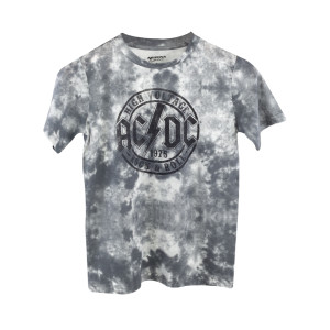 AC/DC Grey Tie Dye High Voltage 1975 Circle Logo T-Shirt