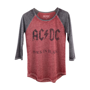 AC/DC Back in Black Red/Grey T-Shirt