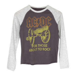 AC/DC For Those About To Rock Longsleeve Grey T-Shirt