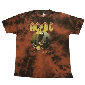 Angus Let There Be Rock Splattered T-Shirt
