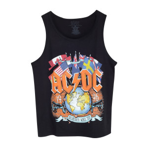 AC/DC Ball Breaker Flags/World 1996 Black Tank Top
