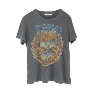 AC/DC Back in Black Highway to Hell Grey/Flames T-Shirt