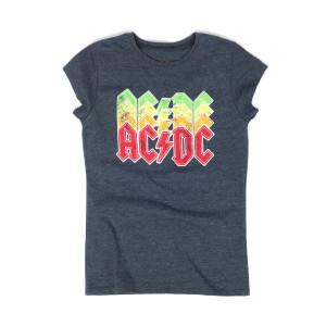 AC/DC Juniors T AC/DC Multi Color Logo Grey T
