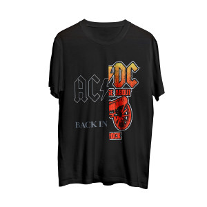 AC/DC Back in Black/For Those About to Rock Black T-Shirt