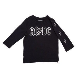 AC/DC Lightning Bolt Logo Longsleeve Kids Tee