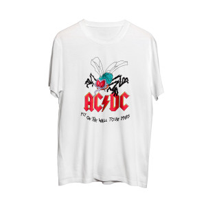 AC/DC Fly on the Wall Tour 1985 White T