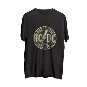 AC/DC Highway To Hell Black Circle T