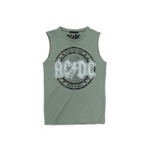 AC/DC High Voltage Green Tank Top