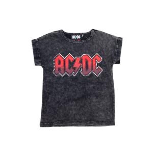 AC/DC Diamonte Red Logo Kids T