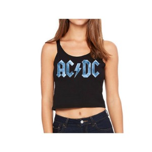 AC/DC Ice Logo Sleeveless Crop Top