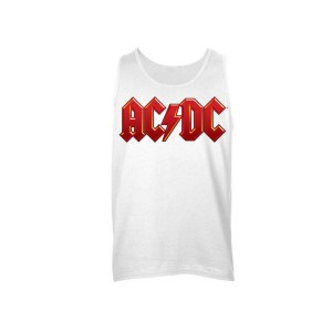 AC/DC Red Logo Sleeveless Unisex Muscle Tee