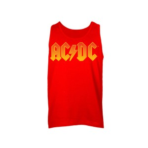 AC/DC Fire Logo Sleeveless Unisex Muscle Tee