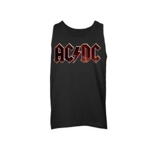 AC/DC Black Grunge Logo Sleeveless Unisex Muscle Tee