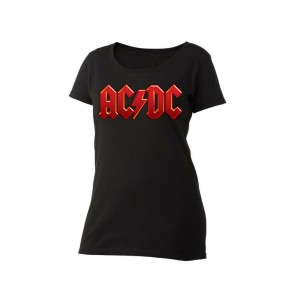 AC/DC Red Logo Women's Scoop Neck T-Shirt