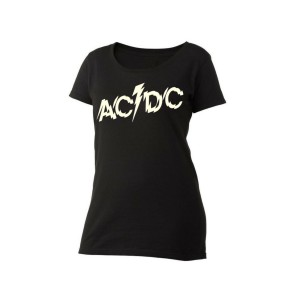 AC/DC Splintered Logo Women's Scoop Neck T-Shirt