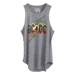 AC/DC Bedazzled Lightning Bolt Logo Tank