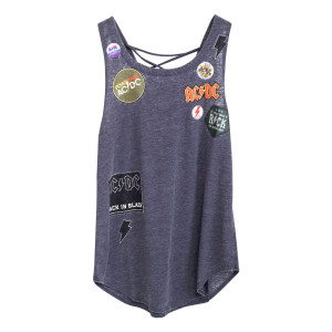 ACDC Patch Blue Tank String Back