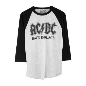 AC/DC Back in Black Grey/Black Raglan