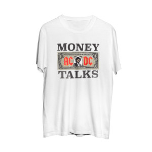 AC/DC Money Talks Angus Dollar Bill T-shirt