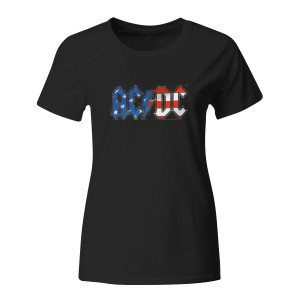 AC/DC Women's Stars & Stripes T-Shirt