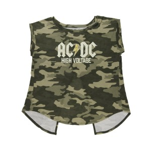 Women's Open Back High Voltage Camo Top