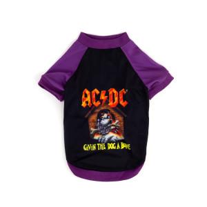 AC/DC Givin The Dog A Bone Purple & Black Doggie T-shirt