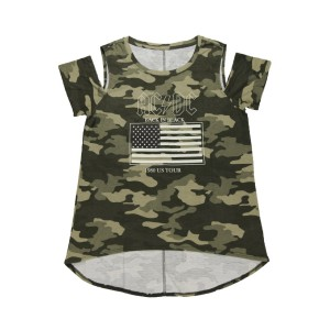 Women's 1980 Tour Cold Shoulder Camo Top