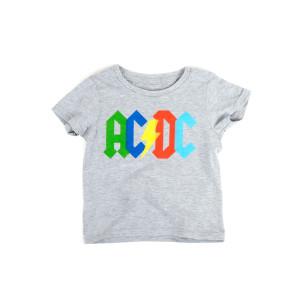AC/DC Multicolor Logo Grey T-shirt