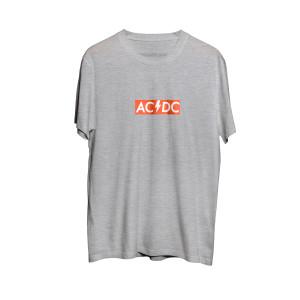 AC/DC Grey Red Logo T