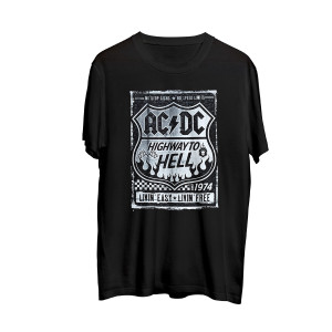 AC/DC Highway to Hell Road Sign Black T-shirt