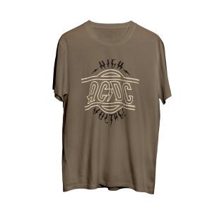 AC/DC High Voltage Military Green T-shirt