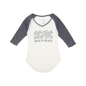 AC/DC Back in Black Juniors Raglan