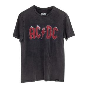 AC/DC Distressed Red Logo T-shirt