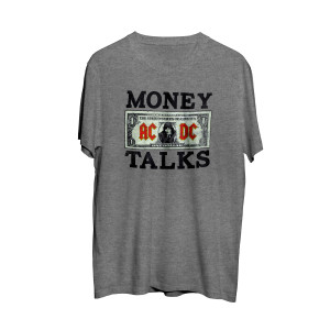 AC/DC Money Talks Angus Dollar Bill Grey T-Shirt