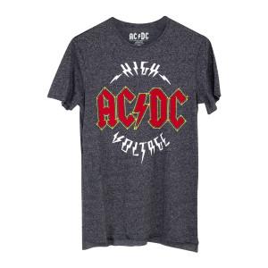 AC/DC High Voltage Logo Dark Grey T-Shirt