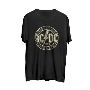 AC//DC High Voltage Rock and Roll 1976 Black T-Shirt