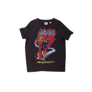 AC/DC Kids Black Let There Be Rock World Tour '77 T-Shirt