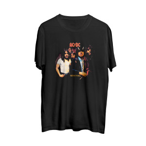 AC/DC Highway to Hell Band Photo Black T-Shirt